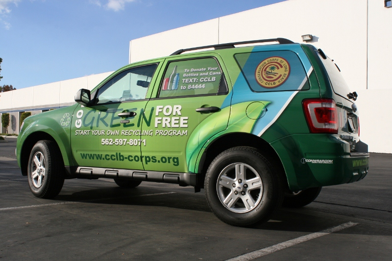 Vintage Vw Parts >> Custom Designed Vehicle Wrap on a Ford Escape | Long Beach