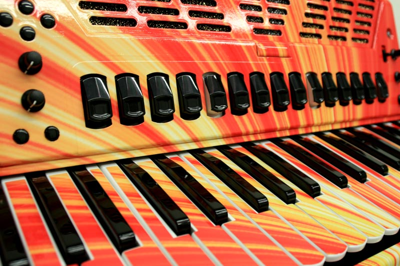Custom Graphic Wrap on a Roland FR-7X Accordian for Cory ...