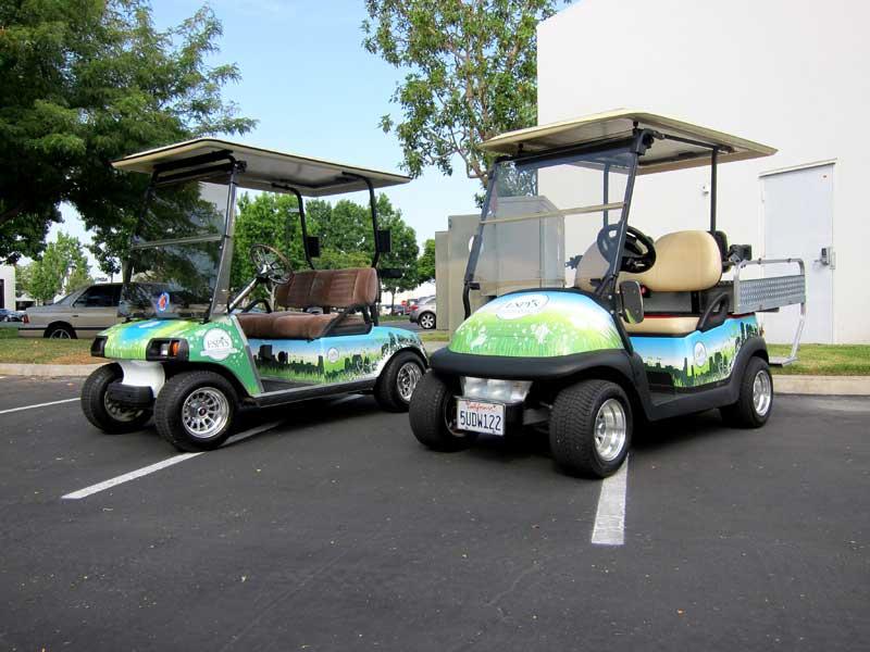 Custom Golf Cart Designs For Espn By Iconography Los