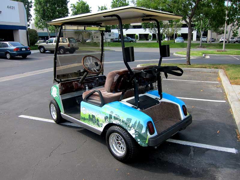 Nissan Los Angeles >> Custom Golf Cart Designs for ESPN by Iconography | Los ...
