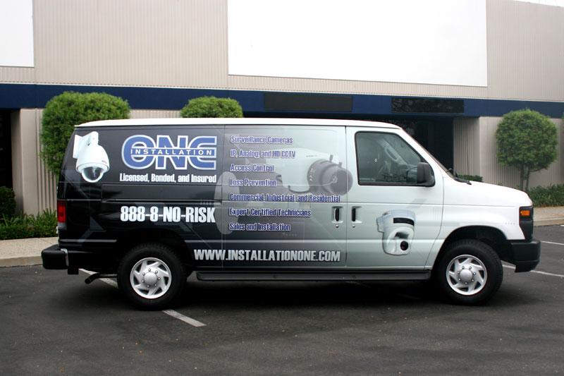 full van wrap  installation  woodland hills ca