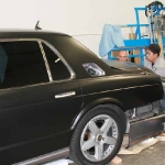 Matte Black Bentley Installation by Iconography