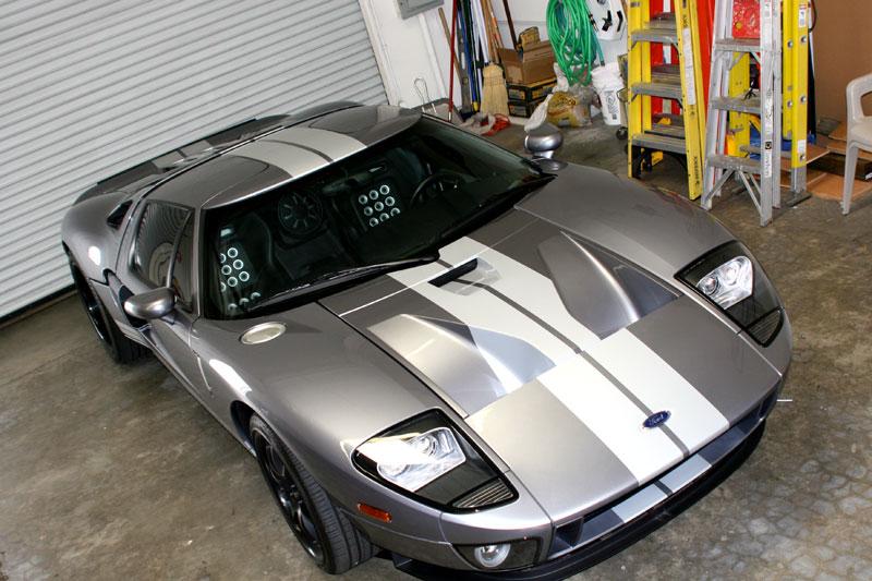 Ford Gt Matte Black Vehicle Wrap Los Angeles