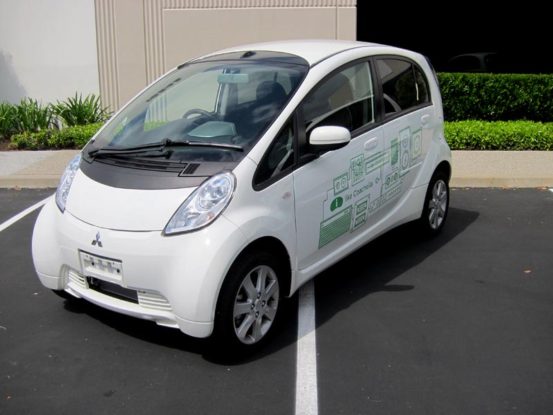 First Team Toyota >> Mitsubishi i-MiEV Electric Vehicle Wraps | Los Alamitos