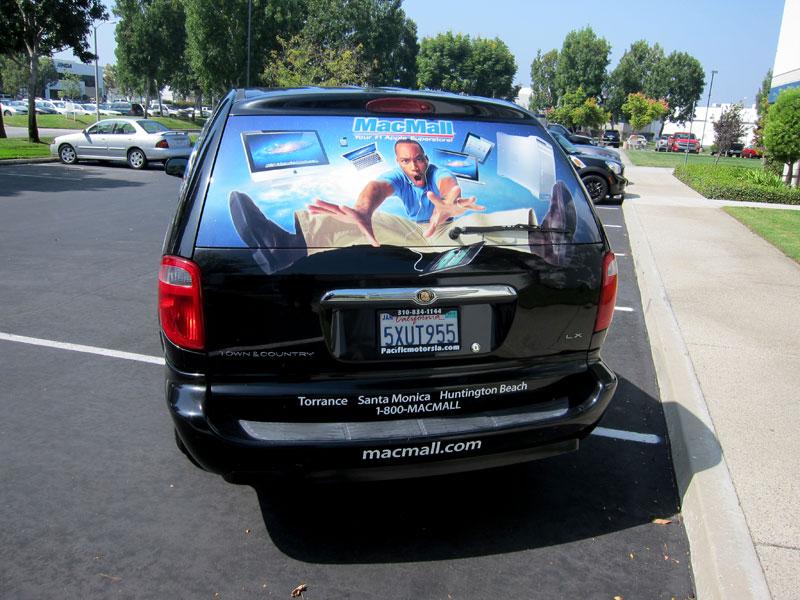 Partial Minivan Wrap For Pc Mall Torrance Ca