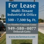 Post and Panel Real Estate Sign