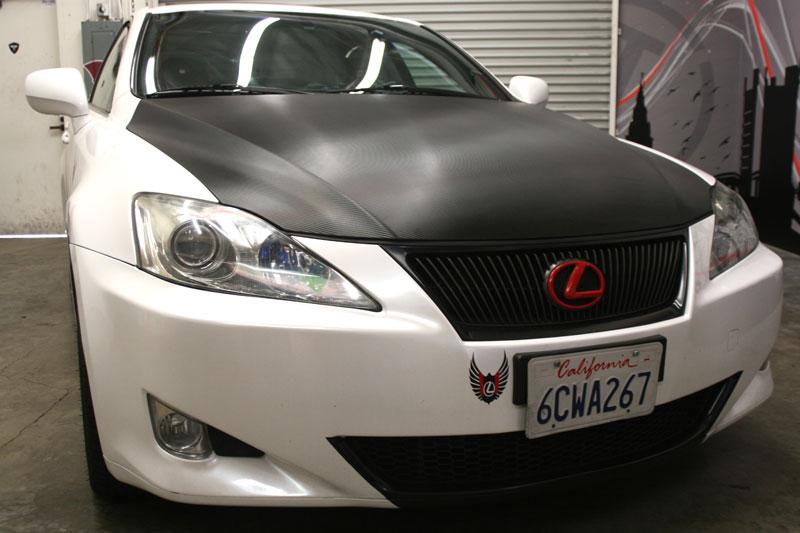 Carbon Fiber Hood On Lexus Los Alamitos Ca