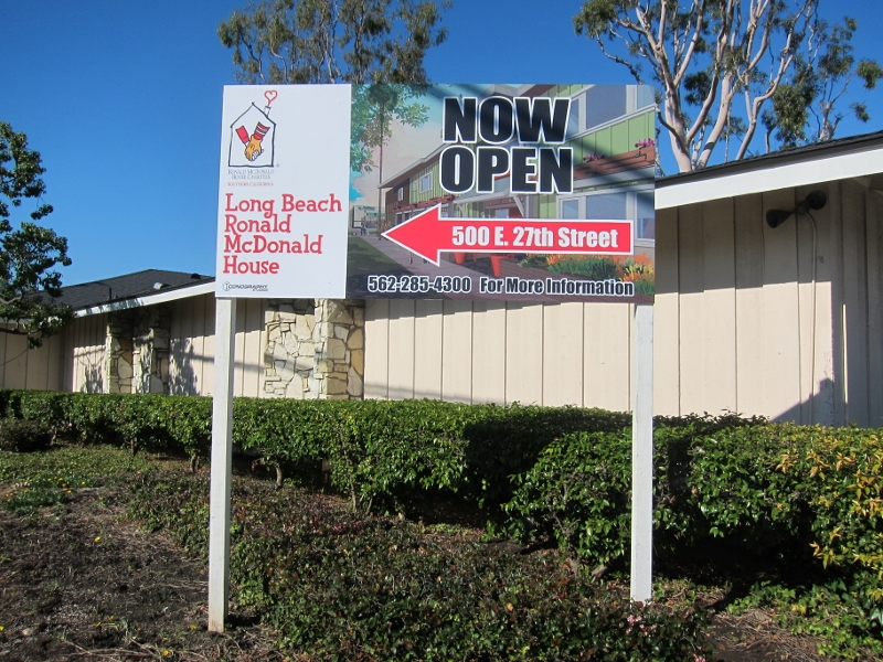 new sigange for long beach ronald mcdonald house