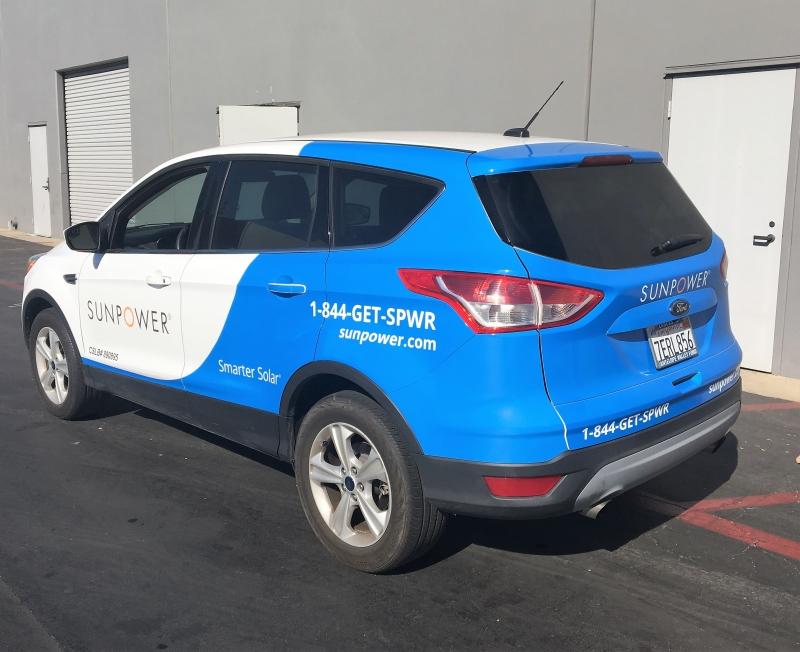 Fleet Vehicle Wraps For Sunpower Nationwide