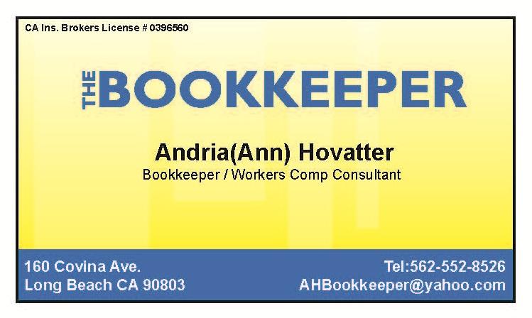 Bookkeeper Long Beach Ca