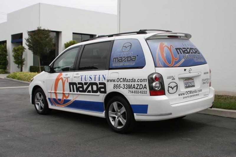 Minivan Partial Wrap Tustin Ca
