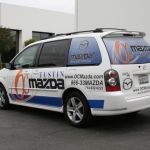 Custom Minivan Partial Wrap