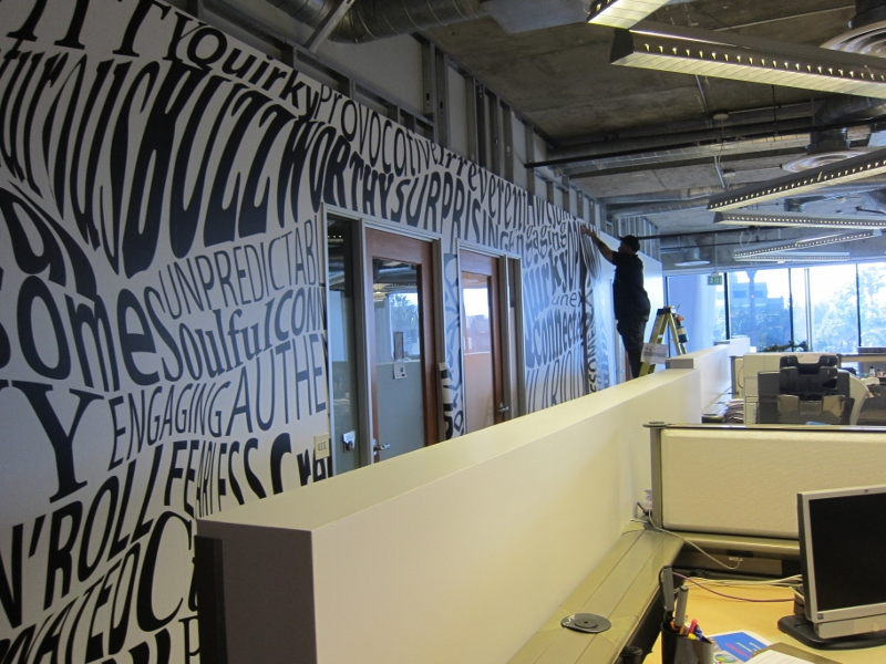 Custom Interior Wall Wraps Santa Monica Ca