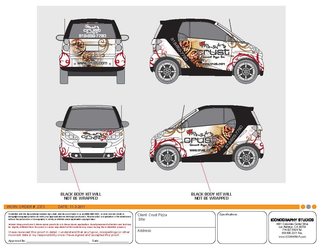 Lovely Custom Smart Car Wrap Design By Iconography