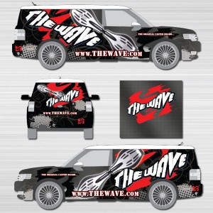 Vehicle wrap design by Iconography