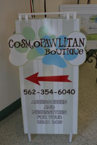 Custom sidewalk sign, digital print laminated to custom cut MDO