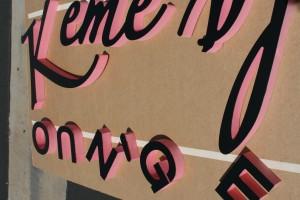 Dimensional letters pre-installation