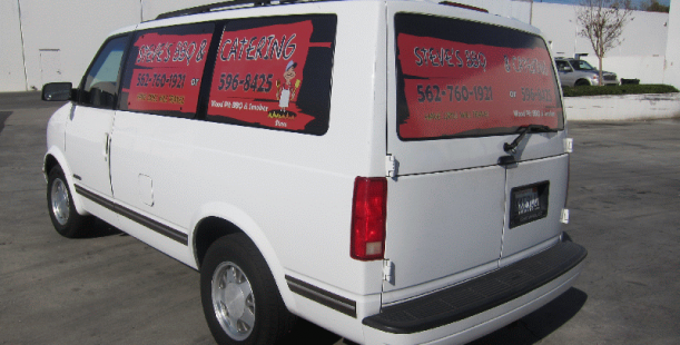 Latest Trend Perforated Vehicle Window Graphics Los