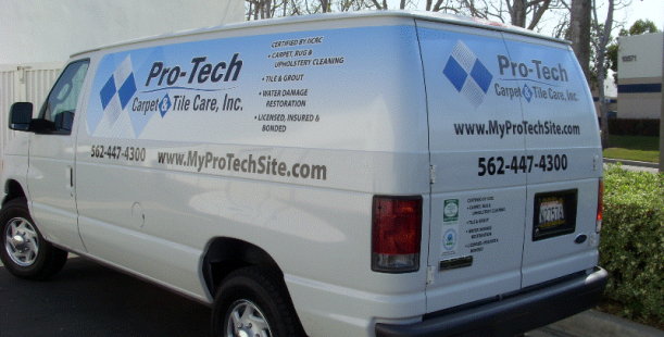 Partial Van Wrap For Pro Tech Los Alamitos Ca