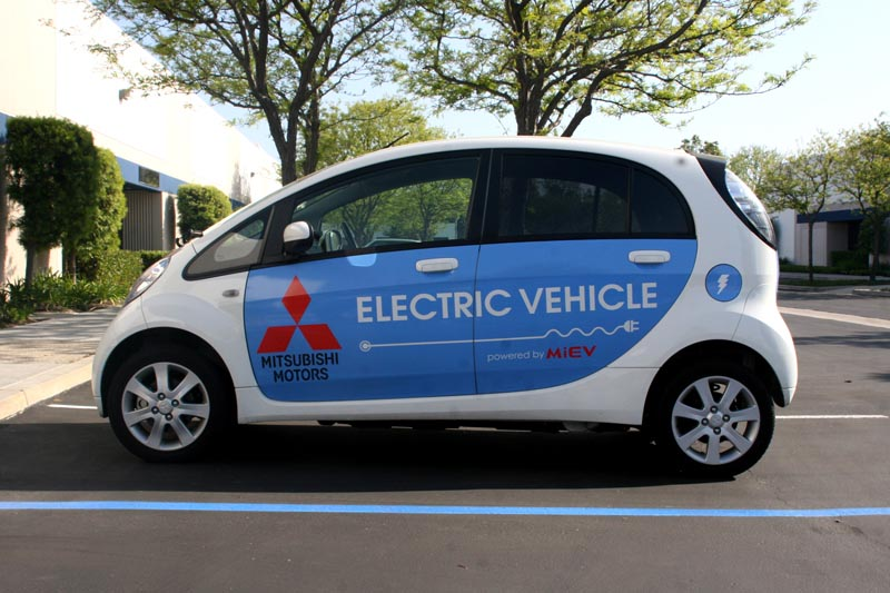 Mitsubishi I Miev Electric Vehicle Wraps Los Alamitos