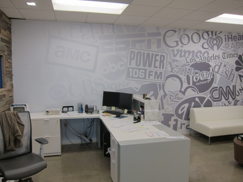 Custom Graphic Wall Coverings Reception Area Costa Mesa Ca