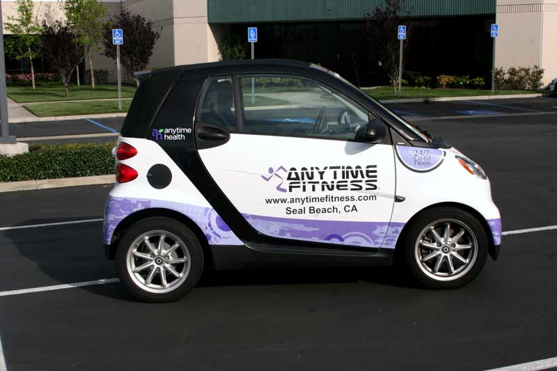 Anytime Fitness Smart Car Partial Wrap Seal Beach Ca