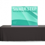 Retractable Table Top Banner Stand