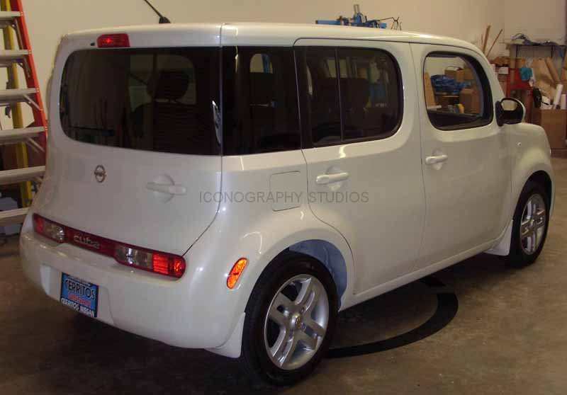Nissan Los Angeles >> Full Vehicle Wrap on a Nissan Cube, Los Angeles CA