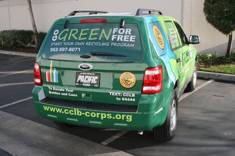 Custom Designed Vehicle Wrap on a Ford Escape | Long Beach
