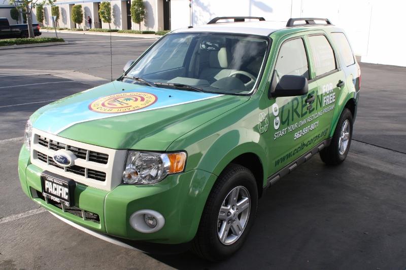 Custom Designed Vehicle Wrap on a Ford Escape   Long Beach