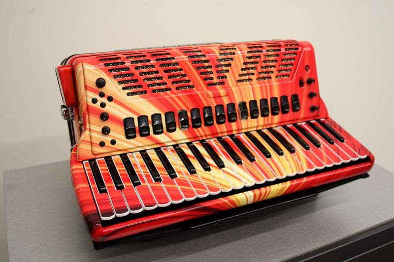 Porsche 911 T >> Custom Graphic Wrap on a Roland FR-7X Accordian for Cory Pesaturo in Rhode Island