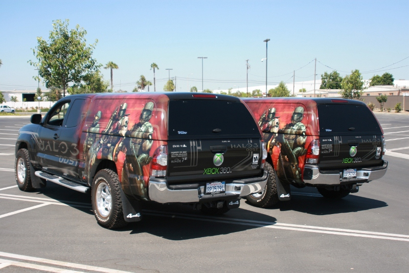 Custom Vehicle Wraps For Xbox 360 Campaign Los Angeles Ca