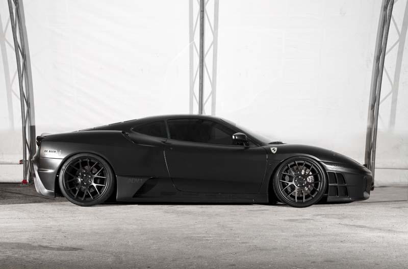 Matte Black Ferrari F430 Orange County Ca