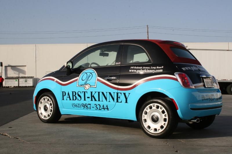 Car Vinyl Wrap Cost >> Custom Designed Vehicle Wrap on a Fiat 500 | Long Beach, CA