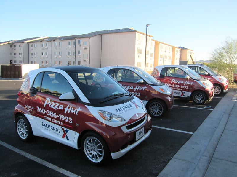 Pizza Hut Smart Car Wraps by Iconography | Barstow, CA