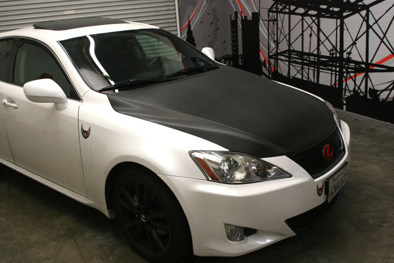 Carbon Fiber Hood On Lexus Los Alamitos Ca