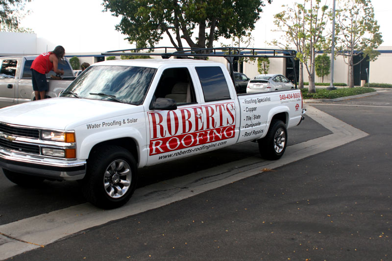 Partial Wrap for Roberts Roofing | Orange County, CA