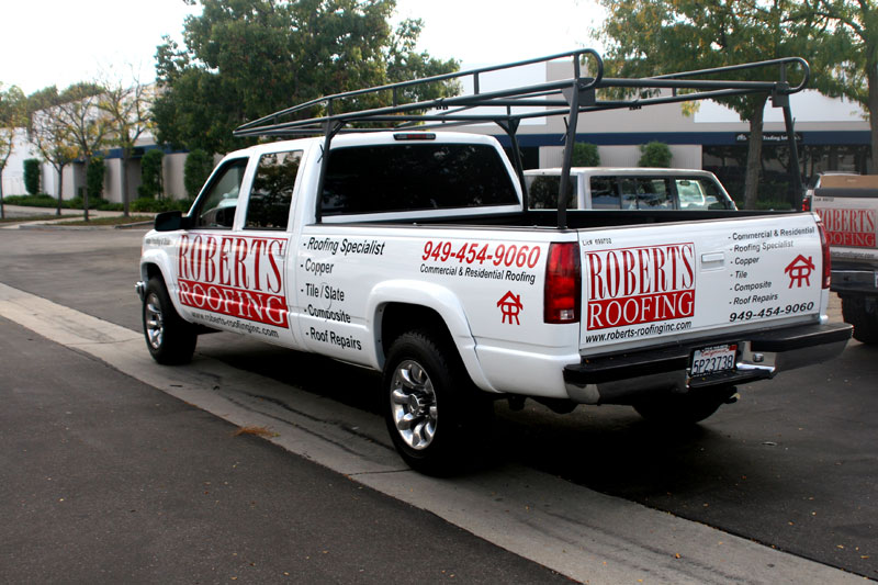 Partial Wrap For Roberts Roofing Orange County Ca