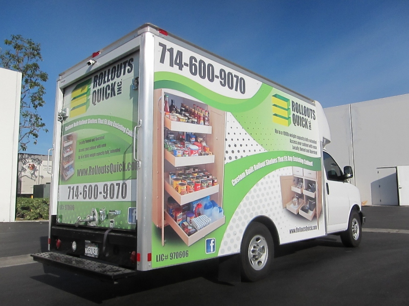 Custom Designed Box Truck Wrap Garden Grove Ca
