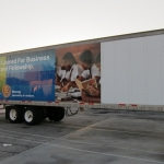 Rotary Trailer Wraps In Progress
