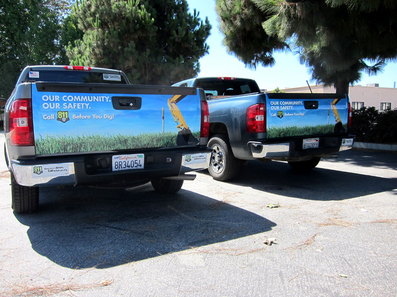 Tailgate wraps for Shell Pipeline | Carson