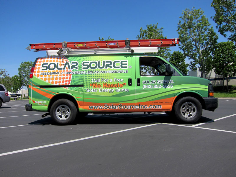 Solar Source Cargo Van Wrap By Iconography Long Beach Ca