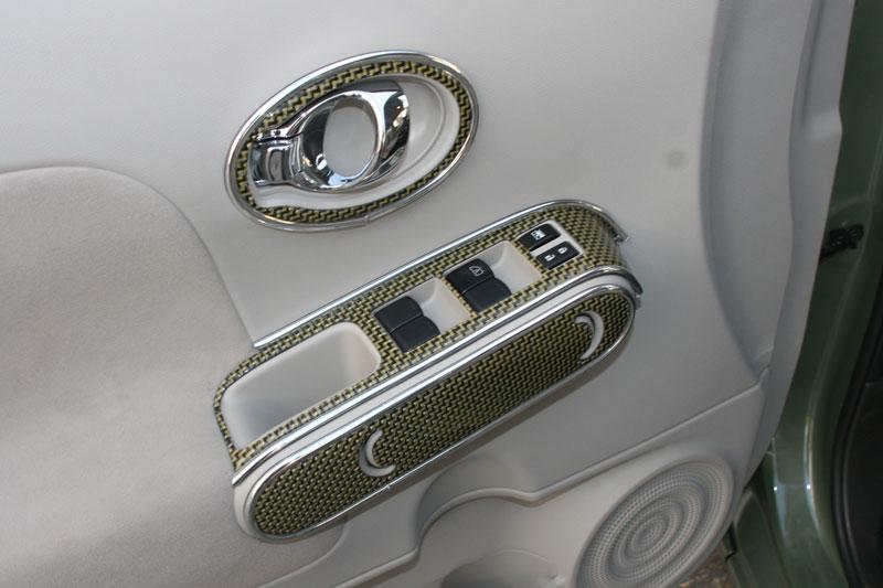 Vehiclegraphics Sunnybunyan Iconography on Nissan Cube Interior