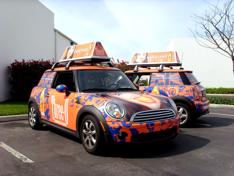Three O Mini Cooper Vehicle Wraps