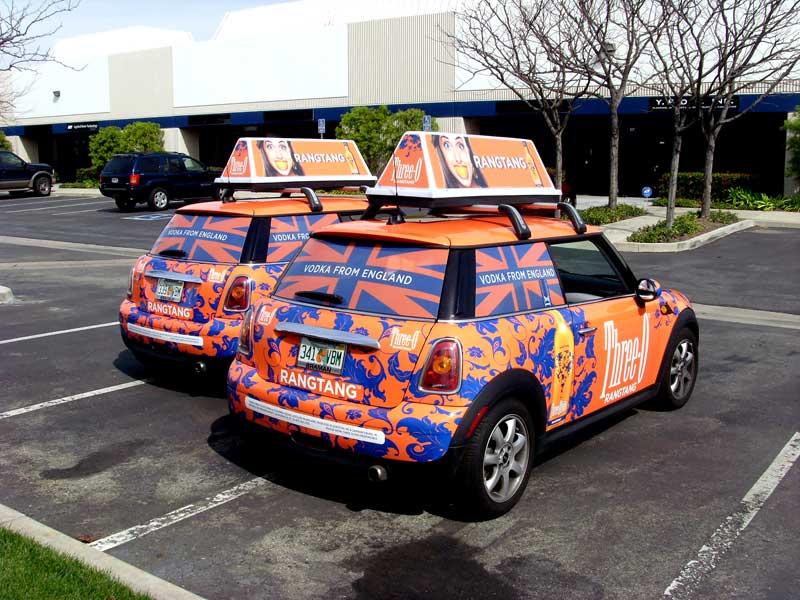 Three O Mini Cooper Vehicle Wraps