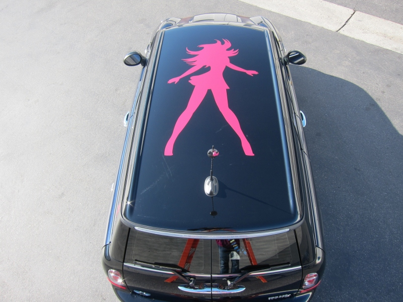 Mini Cooper Car >> Mini Cooper Custom Roof Graphics   Long Beach, CA