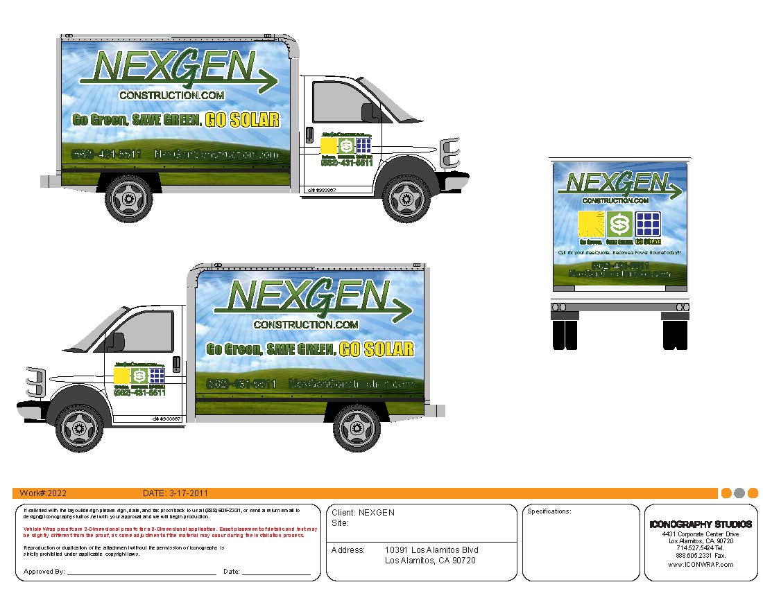 Design By: Vehicle Wrap Design By Icongraphy