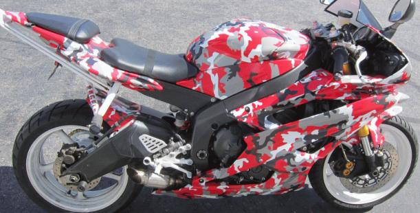 Yamaha R6 Graphic Wrap Los Alamitos Ca