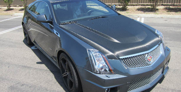 Carbon Fiber Wrap On Cadillac Cts Long Beach Ca