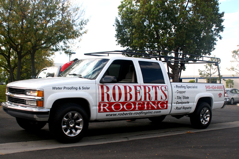 partial wrap for roberts roofing
